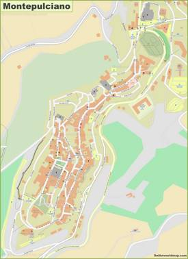 Detailed Map of Montepulciano