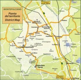 Map of Surroundings of Montepulciano