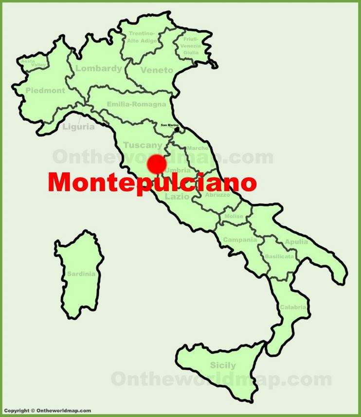 Montepulciano location on the Italy map