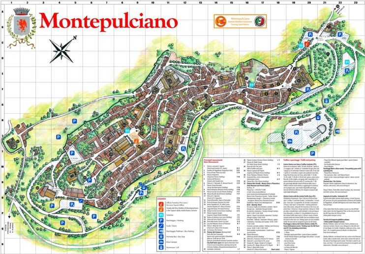 Montepulciano Tourist Map