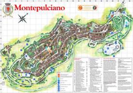 Montepulciano Tourist Map