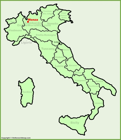 Monza Location Map