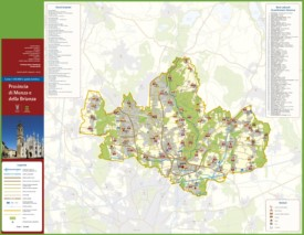 Province of Monza tourist map