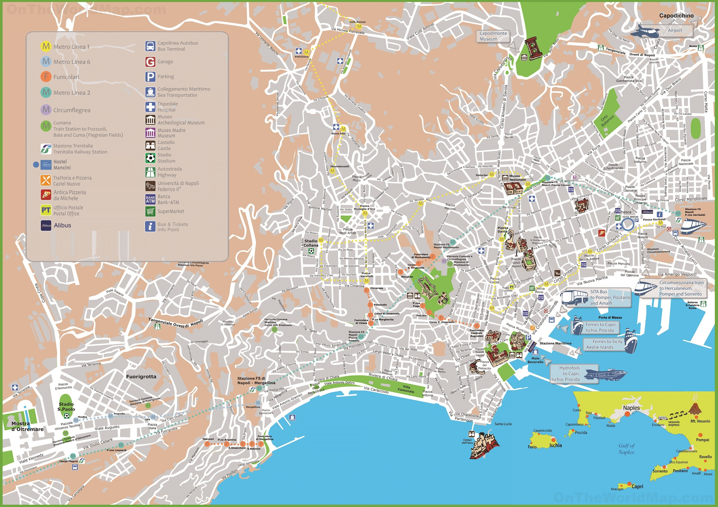 Naples Maps Italy Maps of Naples Napoli