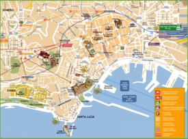 Naples tourist attractions map
