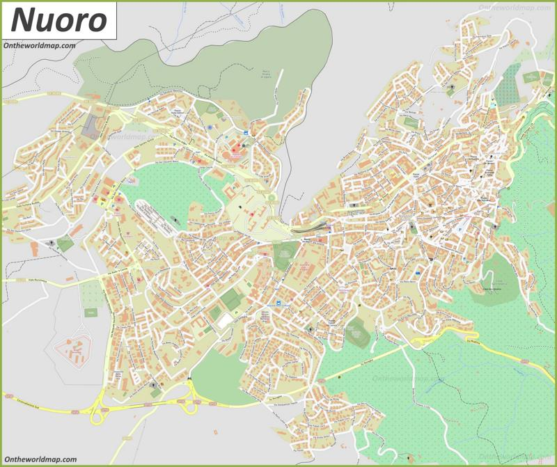 Map of Nuoro