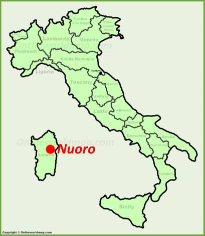 Nuoro location on the Italy map