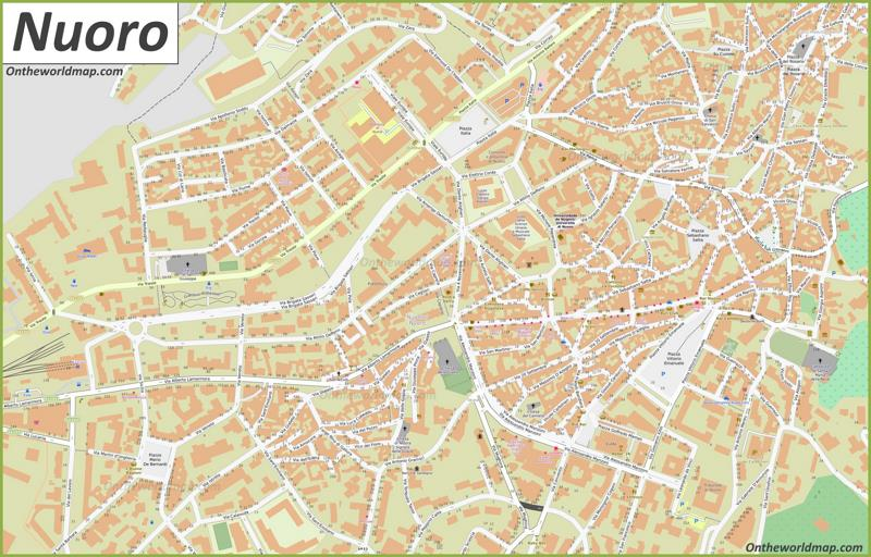 Nuoro Old Town Map