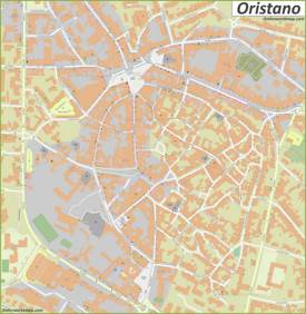 Oristano Old Town Map