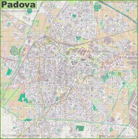 Large detailed map of Padova