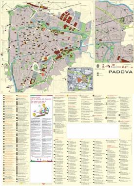 Padova tourist map