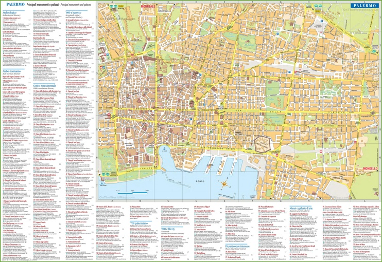 Palermo tourist attractions map