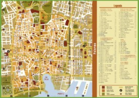 Tourist map of Palermo city centre