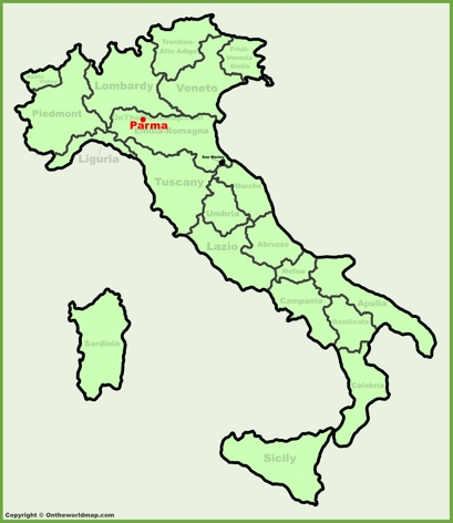 Parma Location Map