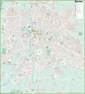 Parma tourist attractions map