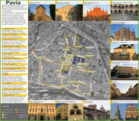 Pavia sightseeing map