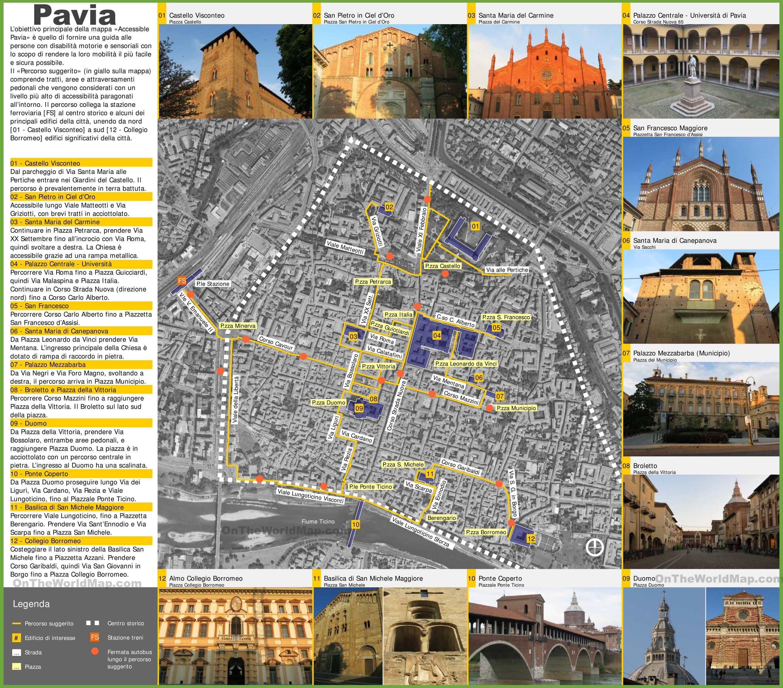 Pavia sightseeing map pavia sightseeing map gumiabroncs Gallery