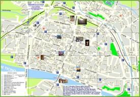 Pavia tourist map