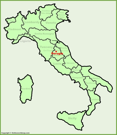 Perugia Location Map