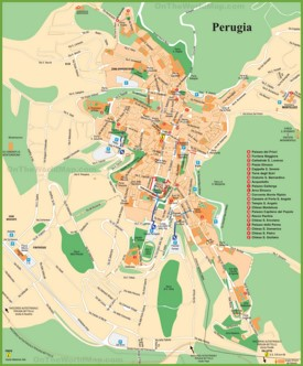 Perugia tourist map
