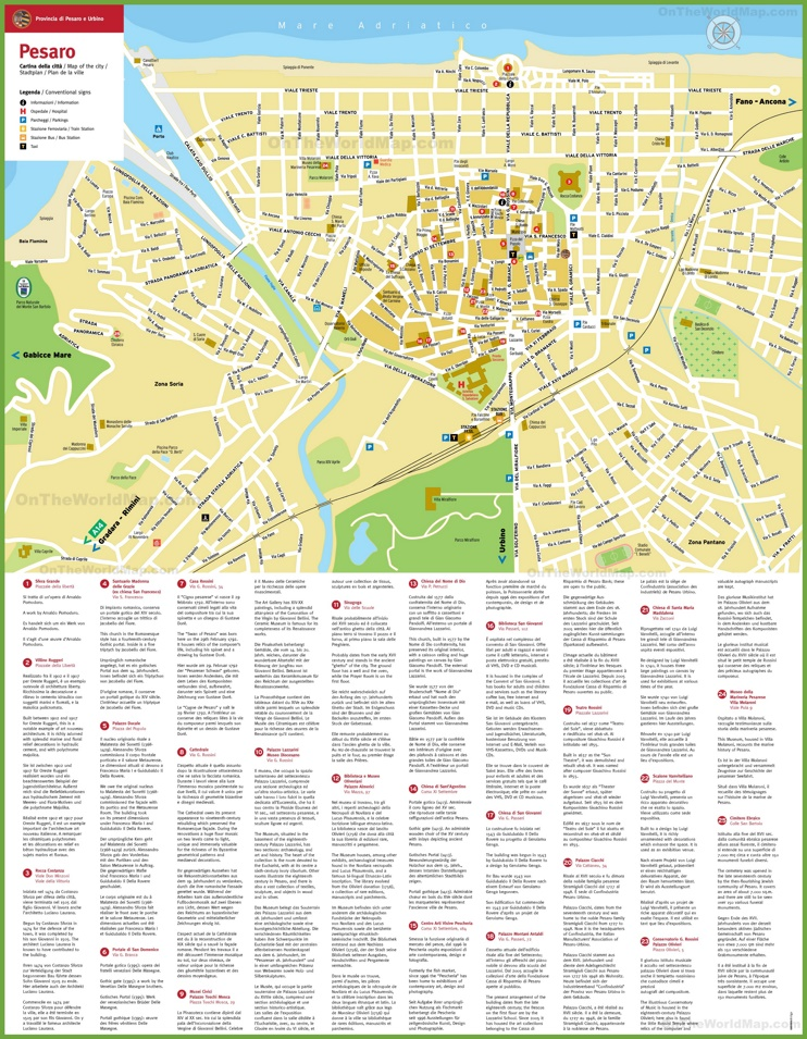 Pesaro tourist map