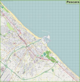 Large detailed map of Pescara
