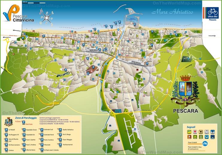 Pescara tourist map