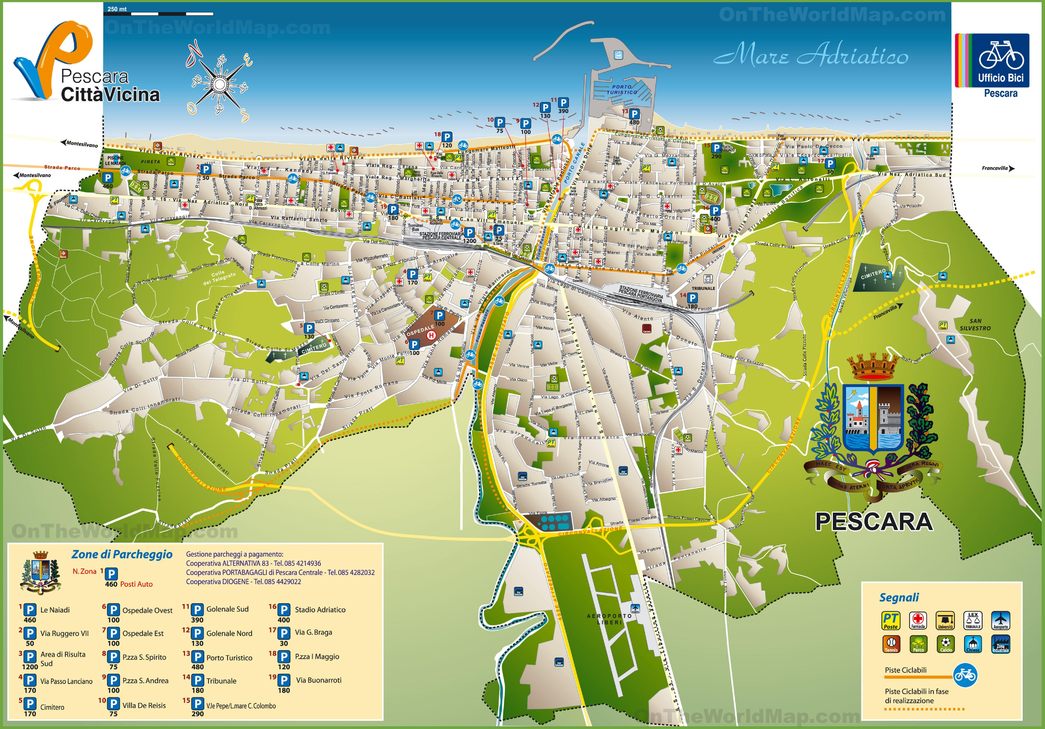 City Of Pescara Italy Map - Itb2c.store •