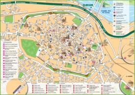 Piacenza tourist map