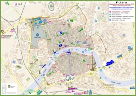 Pisa sightseeing map