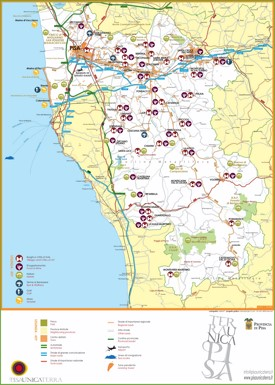 Province of Pisa tourist map