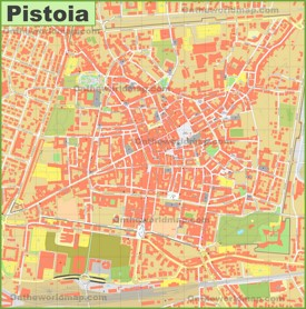 Pistoia tourist map