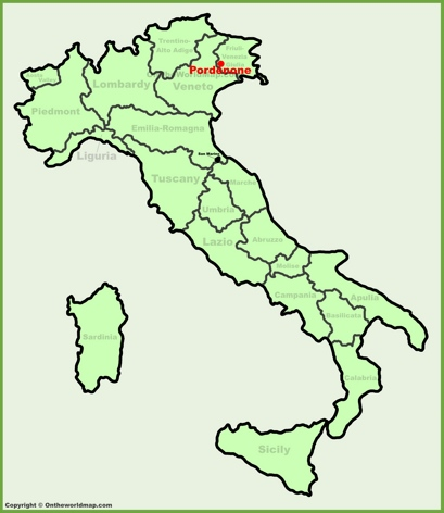 Pordenone Location Map