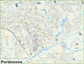 Pordenone tourist map