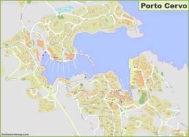 Detailed Map of Porto Cervo