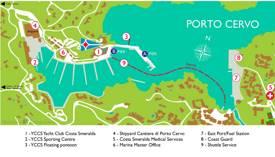Porto Cervo Tourist Map