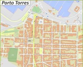 Porto Torres City Center Map