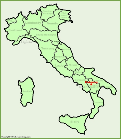 Potenza Location Map