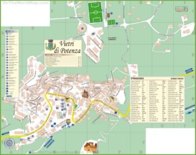 Potenza tourist map