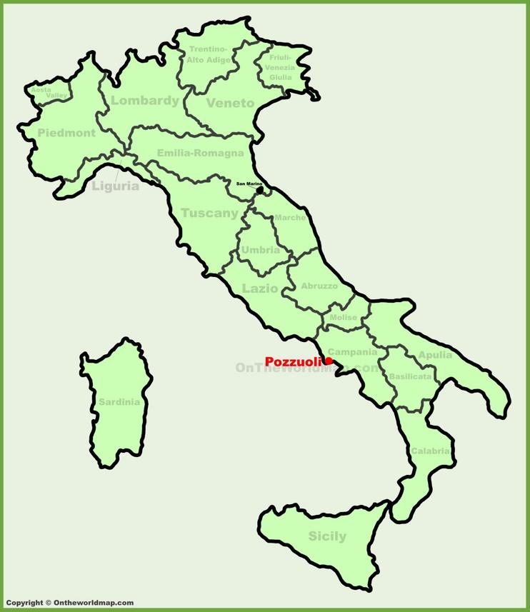 Pozzuoli location on the Italy map
