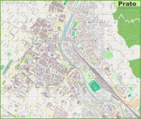 Large detailed map of Prato
