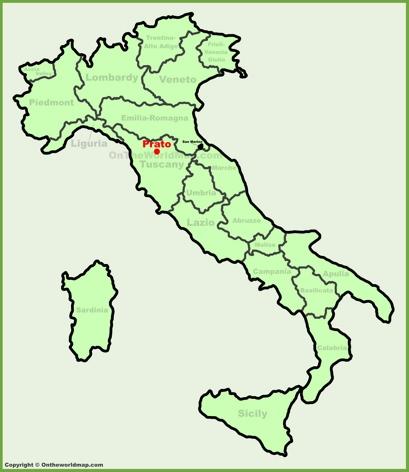 Prato Location Map