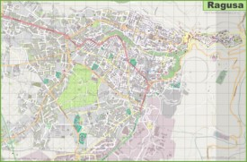 Large detailed map of Ragusa