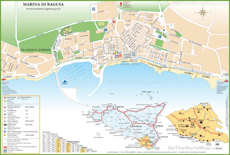 Map of Marina di Ragusa