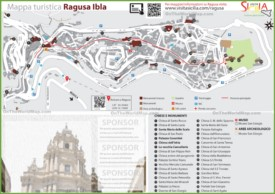 Ragusa Ibla tourist map