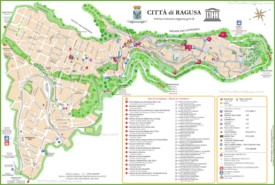 Ragusa tourist map