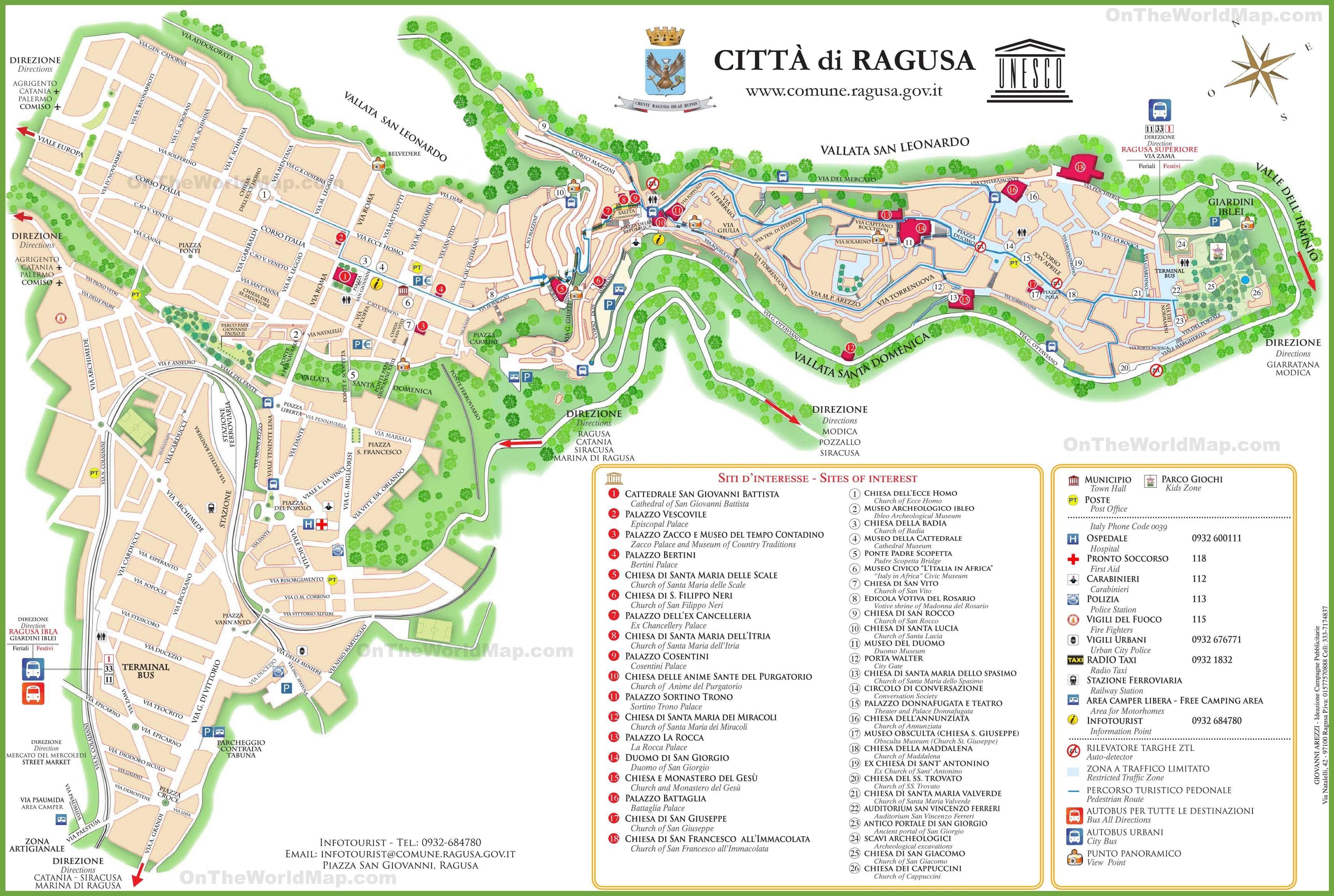 Ragusa Maps Italy Maps of Ragusa
