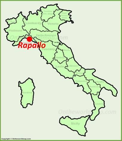 Rapallo Location Map
