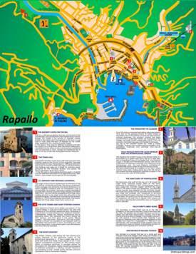 Rapallo Tourist Map