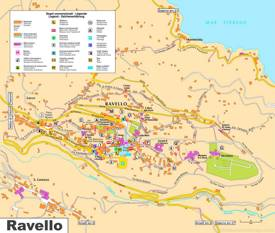 Ravello Tourist Map